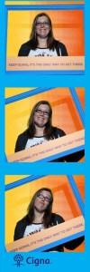 Fun photo strip taken at the Cigna booth (FREE!)