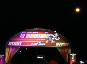 It's almost time for my corral to go at the WDW Half Marathon. 13.1 magical miles and two theme parks!