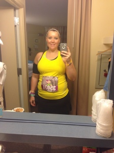 I'm ready to go for the final day of Dopey. It's marathon time!