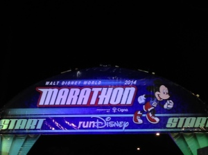 Corral L is about to take off at the WDW Marathon. 26.2 miles to go!