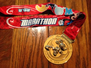 The Mickey Marathon medal.