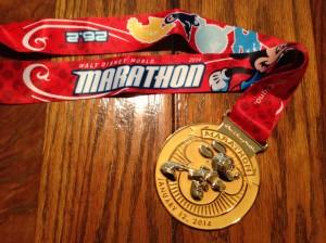 The Mickey Marathon medal.