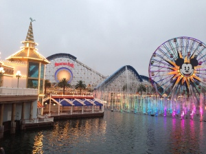 The World of Color show/lights in Disney's California Adventure. It really is pretty.