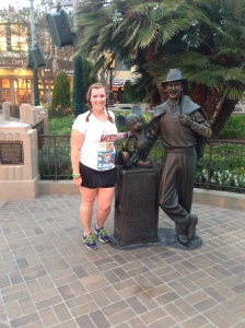 I stopped for a quick picture with Walt and Mickey.