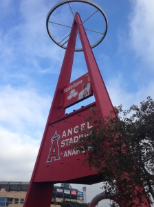 Just outside Angels Stadium during the Disneyland Half Marathon.