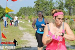 Coming to the finish (I'm in the blue). It was a really hot day! This is one of the hardest races I've ever done!