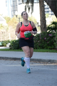 I look so serious here. I'm probably about 100 yards or so from the finish line.