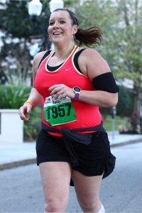 I'm a fairly smiley runner. At least I am when I see the cameras! I try to give a smile!