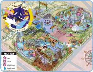 Never Land 5k Course Map 2014
