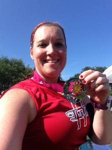 Finished the Iron Girl half! It was a tough run; very hot and those bridges were killer!