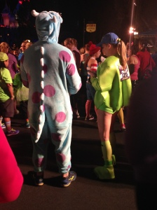 Super cute Sulley and Mike costumes from the 5k. I would not be able to run in either of these!