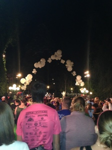 This is the start line for the Never Land 5k. I'm a bit disappointed in how plain it is. I'm spoiled by WDW.