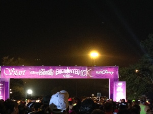 The start line at the inaugural Enchanted 10k.