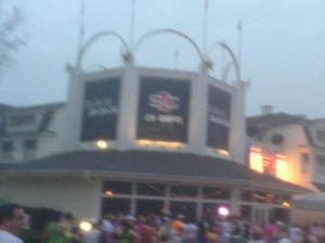The ESPN Zone at the Boardwalk. I missed a photo op with Sport Goofy and I took this while running!