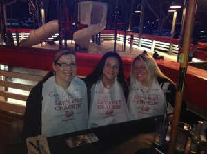 My friends, Samantha and Janine and I eating at Joe's Crab Shack. I LOVE these ladies!