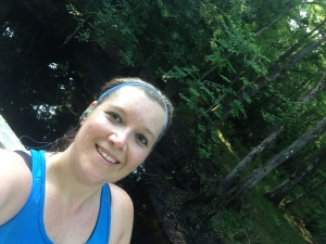 There was some beautiful areas on the trail during the MOAT half.