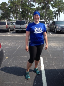 Me after the race. I am not so much muddy as just wet (it's more sand/dirt than mud).
