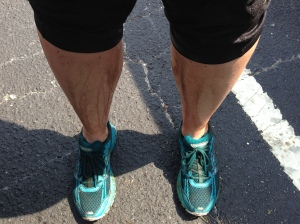 My legs after the mud run. Not so much muddy but, well, dirty!