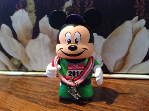 Marathon Mickey vinylmation with the Princess weekend vinylmation medal. He's earning his medals too!