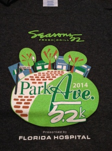 I really like the race shirt for the Season's 52 5.2k. I really should wear more of my race shirts!