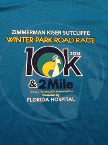 The Winter Park Road Race race tee. I love the color of this shirt!