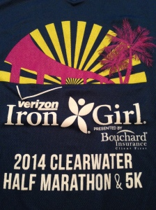 I am not fond of the race shirt for the Iron Girl. It doesn't fit me well and the shirt itself is kind of thin.