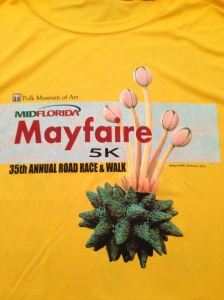 The race shirt for the MidFlorida Mayfaire 5k.