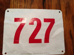 Some bib numbers are funny. Like 727 - I'm an airplane (and a nerd).