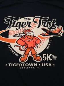 The race t-shirt for the Tiger Trot 5k.