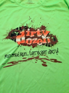 The race t-shirt for the Dirty Dozen. I LOVE this green!