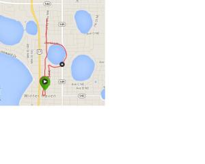 Course map from WHPD Torch Run. It's crappy because I had to get it from my Garmin data and I couldn't zoom in enough!
