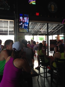 The Brass Tap opened early so runners could enjoy a beer after the race and FitNiche could do the giveaways.