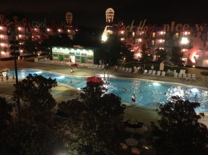 The view from my room at Pop Century for Tower of Terror weekend.