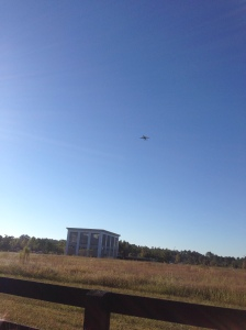 As I was walking back to my car, I snapped this pic. The race is really close to the airport so the plane is really close to the ground!