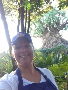 A quick stop for a selfie in front of the Tree of Life.