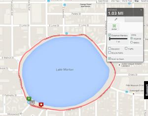 The second race of the Aching Quad is a one mile loop.