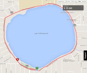 Races 1 and 4 are 5k loops around Lake Hollingsworth.