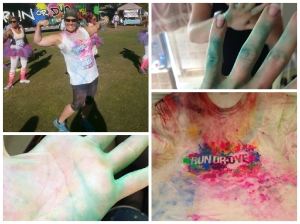 All my colorfulness after the Run or Dye race!