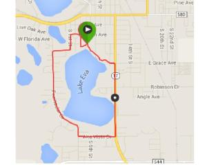 Course map for Run or Dye Haines City.