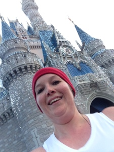 I managed to get a pretty good selfie while running through the castle. I love the lights on it!