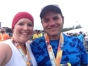 Dopey Challenge FINISHED! Two ecstatic runners!
