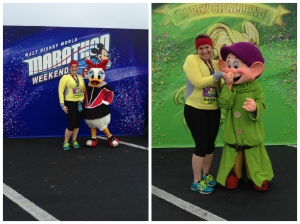 My two character pictures after the race.