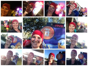 13 mile markers and 13 selfies during the half marathon. So far, I'm making my goal!