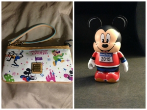 My new D&B wristlet and my 2015 runDisney vinylmation.