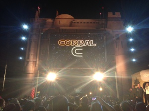 "Corral C; our ""home"" for the 10k and half marathon.  This is the only picture I took during the 10k."