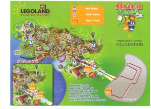 The course map for the 2015 Brick Dash at LegoLand Florida.
