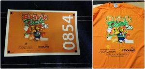 My bib and the race shirt for the Brick Dash 5k.