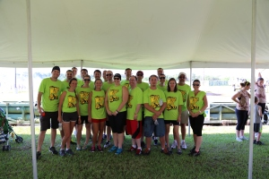 The Kegel Mud Runners before the start of the Dirty Dozen Fun Mud Run.