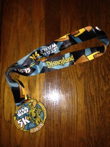 Star Wars 5k Finisher's Medal