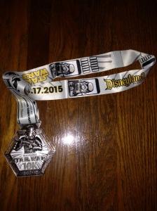Star Wars 10k Finisher's Medal